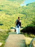 hiking пар acadia Стоковое фото RF