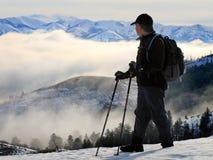 hiking персона стоковая фотография rf