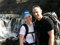hiking представление Стоковая Фотография RF