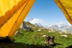hiking принципиальной схемы Стоковая Фотография RF
