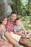 hiking семьи дня Стоковые Фотографии RF