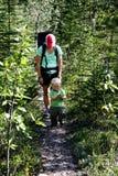 hiking семьи Стоковые Изображения RF