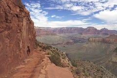 Hiking тропка в грандиозном каньоне, Аризоне Стоковые Фото