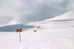 hiking тропка лыжи Стоковое Изображение RF