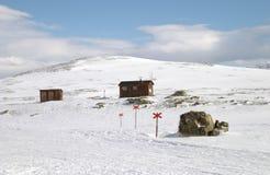 hiking тропка лыжи Стоковые Фотографии RF