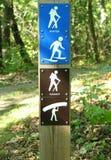 hiking тропка отметки Стоковое Изображение
