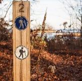 hiking тропка отметок Стоковая Фотография