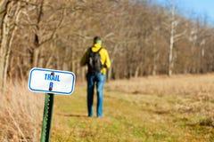 Hiking тропка Стоковые Фотографии RF