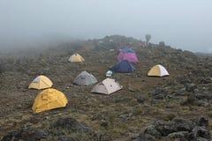 hiking тумана Африки Стоковая Фотография RF