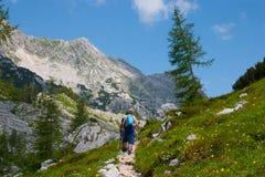 hiking туристы гор Стоковое Изображение RF