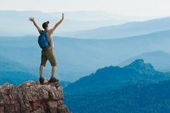 Hiking человека Стоковая Фотография RF