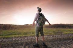 Hiking человека Стоковые Изображения