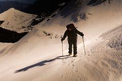 hiking человек Стоковое Изображение