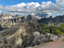 hiking человек Стоковая Фотография RF