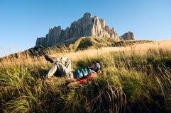 hiking человек стоковая фотография
