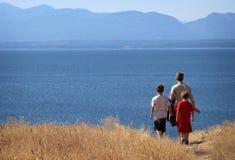 hiking семьи Стоковое фото RF