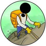 Hiking. Silhouette-man extreme sport icon - hiking Royalty Free Stock Photo