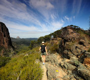 Hiking. Woman hiking in the National Park Royalty Free Stock Photography