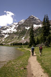 Hiking. Maroon Belles in Colorado Rockies
