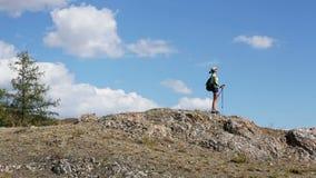 hiking сток-видео