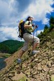Hiking лета Стоковые Изображения