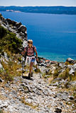 Hiking in Adriatic Royalty Free Stock Photos