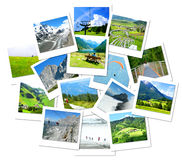 Hiking, adventure and recreation in the Alps Mountains Royalty Free Stock Photos