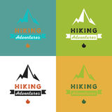 Hiking adventures vector illustration Stock Images