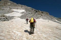 Hiking at Albanian Alps. Hiking at incredible and extreme Albanian Alps Stock Photos