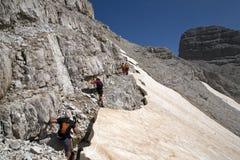 Hiking at Albanian Alps Stock Photography