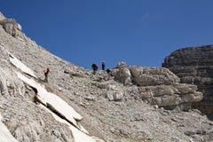 Hiking at Albanian Alps Royalty Free Stock Photography
