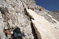 Hiking at Albanian Alps Royalty Free Stock Image