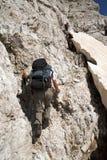 Hiking at Albanian Alps. Hiking at incredible and extreme Albanian Alps Royalty Free Stock Photo