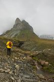 Hiking in Alkhornet, Svalbard Stock Photography