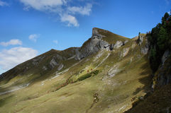 Hiking in the Allgaeu Alps in Tyrol Royalty Free Stock Photography