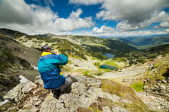Hiking alone Royalty Free Stock Images