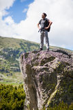 Hiking alone Royalty Free Stock Photo
