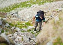 Hiking alone Royalty Free Stock Photo