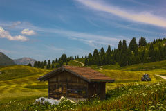 Hiking on the Alp Flix Royalty Free Stock Photography
