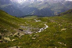 Hiking on the Alp Flix Royalty Free Stock Image
