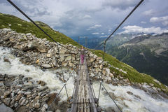 Hiking in Alp Royalty Free Stock Images