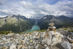 Hiking in Alp Royalty Free Stock Image