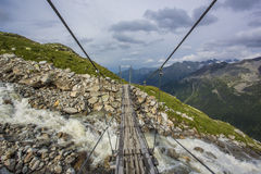 Hiking in Alp Royalty Free Stock Photography