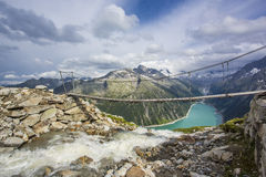 Hiking in Alp Royalty Free Stock Photo