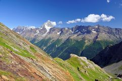 Hiking in the alps Stock Images