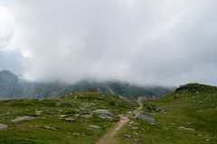 Hiking in Alps Royalty Free Stock Photos