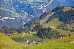 Hiking in alps Royalty Free Stock Images