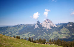 Hiking in alps Royalty Free Stock Image