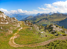 Hiking in alps Royalty Free Stock Photography