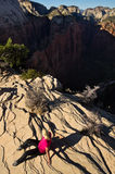 Hiking Angel´s Landing Stock Photography